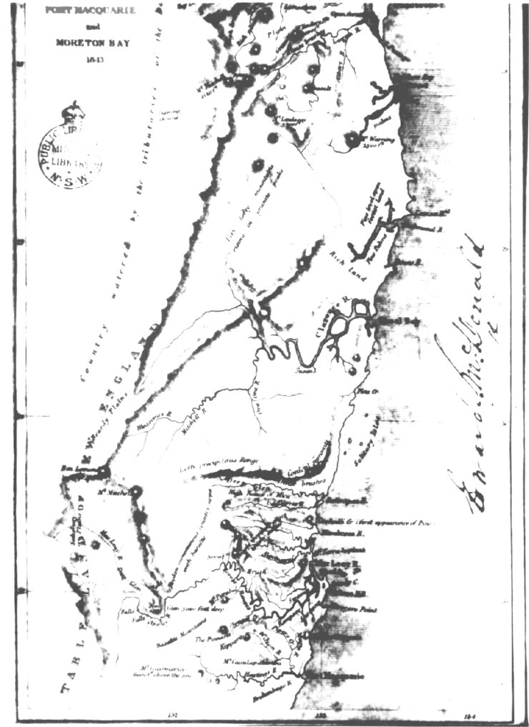1843 by Surveyor Finch recorded one of the first publicly released detailed maps of the area known as Moreton Bay to Port Macquarie…