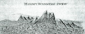 Cooks Sketch Mt Warning 1770