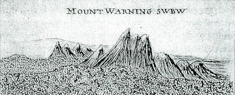 Cooks Sketch Mt Warning 1770