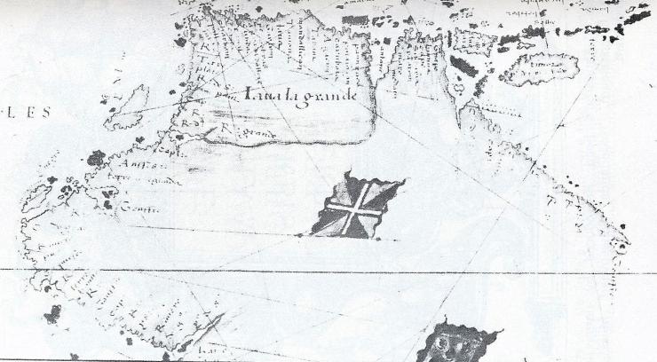 Desliens 1541 map east coast Aust