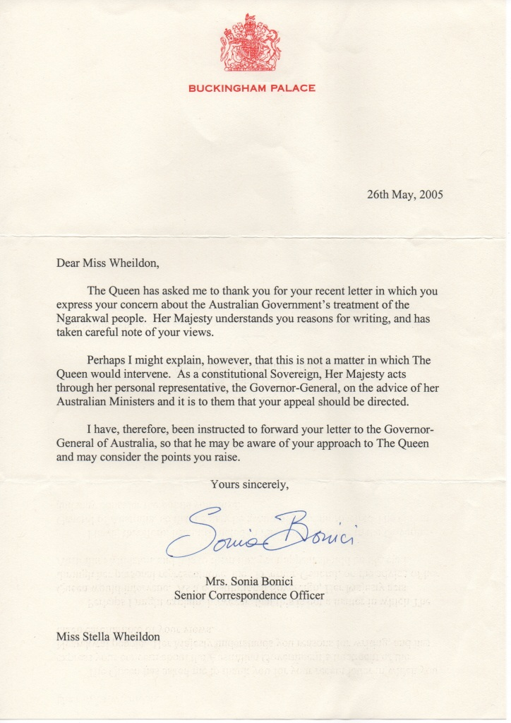 Queen's letter number 1