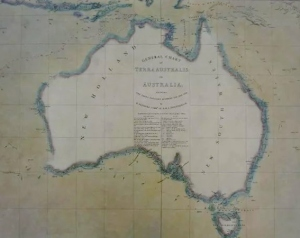 Flinders Chart 1814 - showing the entire east coast of Australia as New South Wales