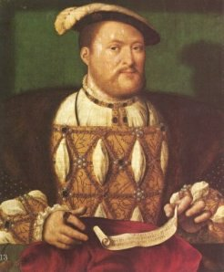 A portrait of King Henry VIII by or attributed to Joos van Cleve from about 1535