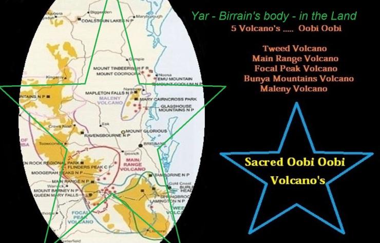 Yar - Birrians Body in the landscape - 5 volcanos